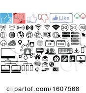 Clipart Of Social Media Computer And Website Icons Royalty Free Vector Illustration by dero