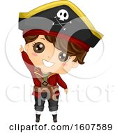 Pirate Kid Boy Costume Point Up Illustration