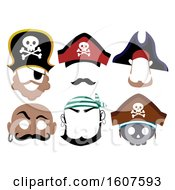 Pirate Printable Mask Illustration
