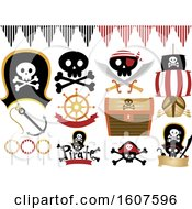 Pirate Party Themed Design Elements Clipart