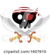 Pirate Party Themed Skull And Crossed Swords Clipart