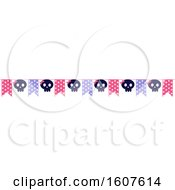 Female Pirate Party Themed Banner Clipart