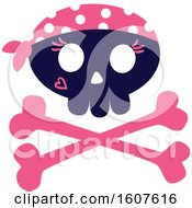 Female Pirate Party Themed Skull And Cross Bones Clipart