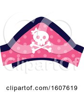 Female Pirate Party Themed Skull Hat Clipart