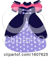 Female Pirate Party Themed Dress Clipart