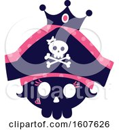 Female Pirate Party Themed Skull Princess Clipart