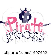 Poster, Art Print Of Female Pirate Princess Party Themed Skull Clipart