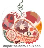 Poster, Art Print Of Junk Art Apple Design Illustration