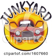 Junk Yard Icon Illustration