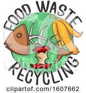 Food Waste Recycling Icon Illustration