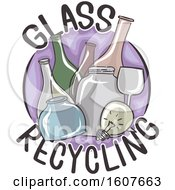 Glass Recycling Icon Illustration by BNP Design Studio