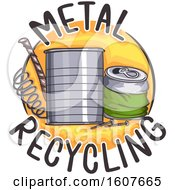 Metal Recycling Icon Illustration