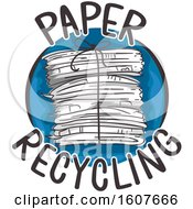 Paper Recycling Icon Illustration