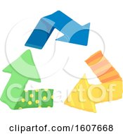 Fabric Recycle Arrows Eco Clipart by BNP Design Studio