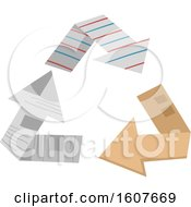 Paper Recycle Arrows Eco Clipart by BNP Design Studio