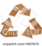 Wood Recycle Arrows Eco Clipart by BNP Design Studio