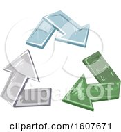 Glass Recycle Arrows Eco Clipart by BNP Design Studio