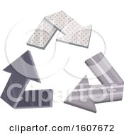 Metal Recycle Arrows Eco Clipart