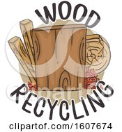 Wood Recycling Icon Illustration