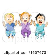 Poster, Art Print Of Kids Toddlers Pajama Illustration