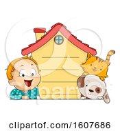 Kid Toddler Boy House Pet Rules Illustration