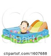 Kid Toddler Boy Kiddie Pool Illustration