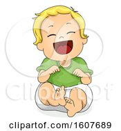 Kid Toddler Boy Laughing Illustration