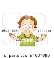 Kid Toddler Boy Left Right Hands Illustration