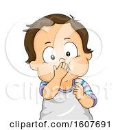Kid Toddler Boy Mouth Full Illustration