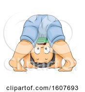 Kid Toddler Boy Play Upside Down Illustration