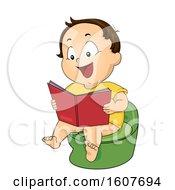 Kid Toddler Boy Potty Training Book Illustration
