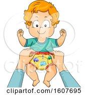 Kid Toddler Boy Potty Training Pants Illustration