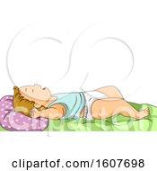 Kid Toddler Boy Sleeping Illustration