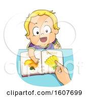 Kid Toddler Boy Speech Training Illustration