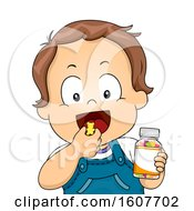 Kid Toddler Boy Vitamin Chewable Illustration