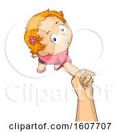 Kid Toddler Girl Hand Walk Illustration by BNP Design Studio