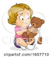 Kid Toddler Girl Sad Broken Teddy Bear