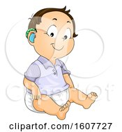 Poster, Art Print Of Baby Boy Hearing Aid Illustration