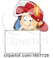 Kid Toddler Boy Fire Fighter Call Illustration