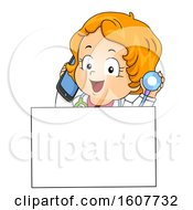 Kid Toddler Girl Doctor Call Illustration