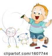Kid Toddler Boy Doodle Friends Illustration
