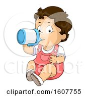 Kid Toddler Boy Sippy Cup Drink Illustration