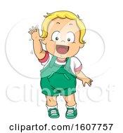 Kid Toddler Boy Wave Good Bye Illustration