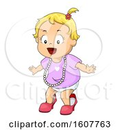 Kid Toddler Girl Mommy Accessories Illustration