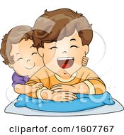 Kids Toddler Boy Brothers Illustration