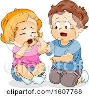 Kids Toddler Concern Playmate Illustration