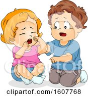 Kids Toddler Concern Playmate Illustration