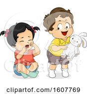 Kids Toddler Cry Not Share Toy Illustration