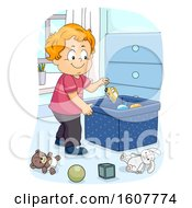 Kid Toddler Boy Chores Toy Illustration by BNP Design Studio