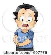 Kid Toddler Boy Appendicitis Pain Illustration